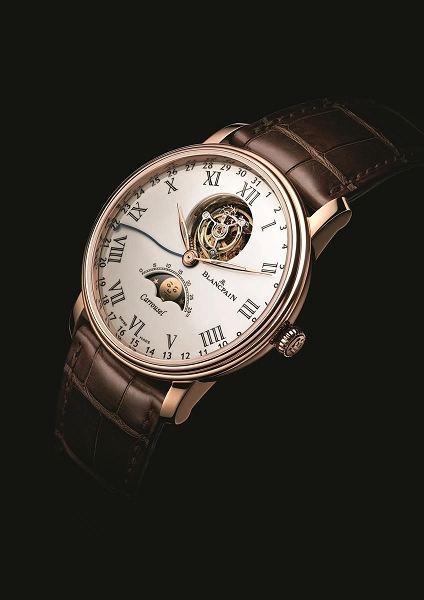 宝珀手表维修服务中心的手表展示